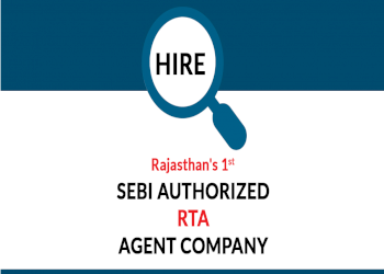 Hire Rajasthan's 1st SEBI Authorized RTA Agent Company
