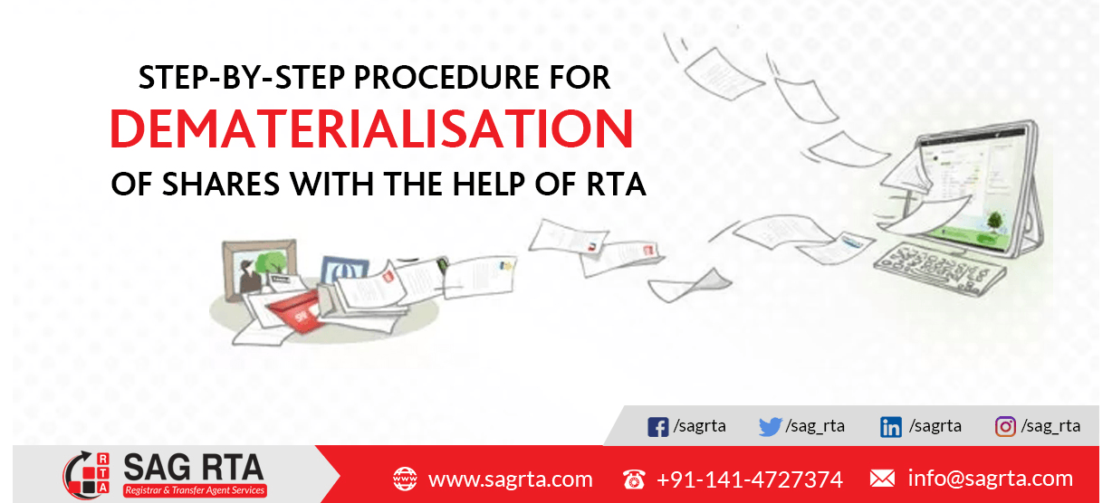 Step-by-Step Procedure For Dematerialisation of Shares with the help of RTA