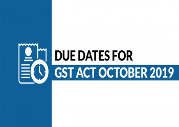 Business Compliance Calendar Under Goods and Services Tax for October 2019