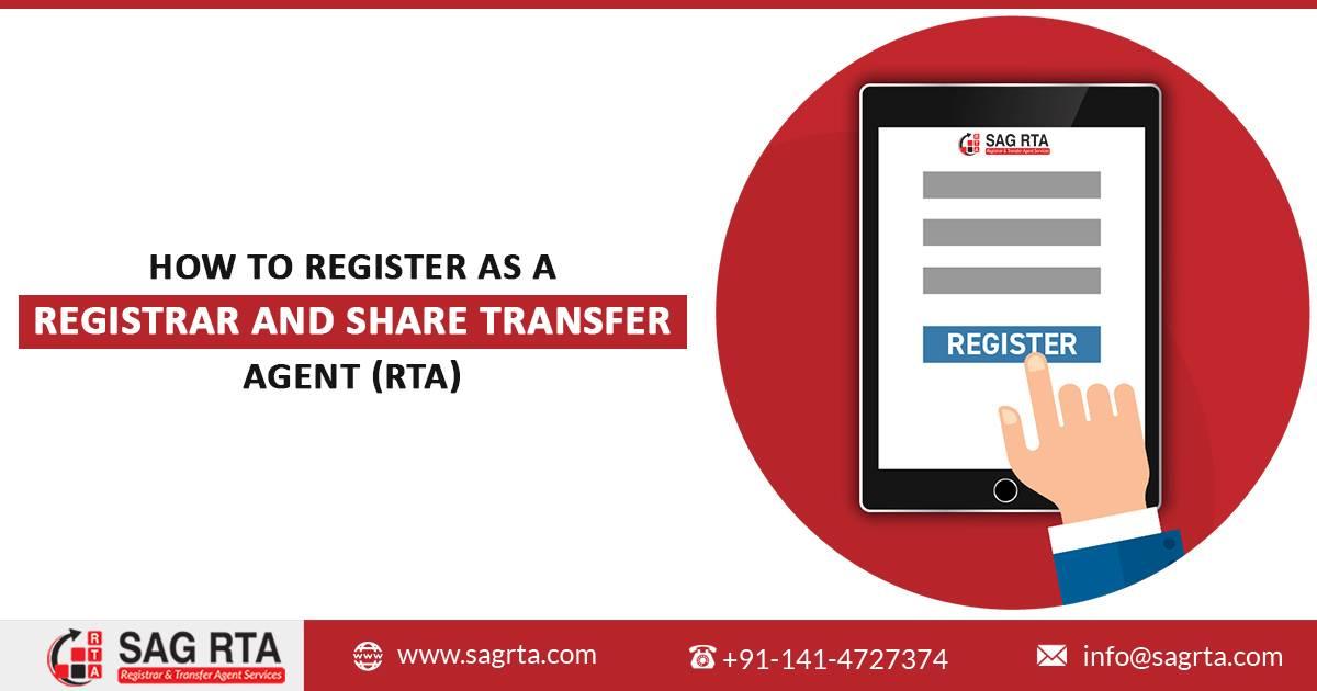 How to Register as a Registrar and Share Transfer Agent (RTA)