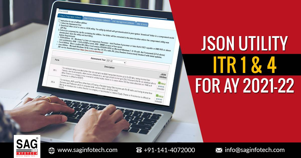 Steps to Download ITR 1 & 4 JSON Utility for AY 2021-22 with Filing