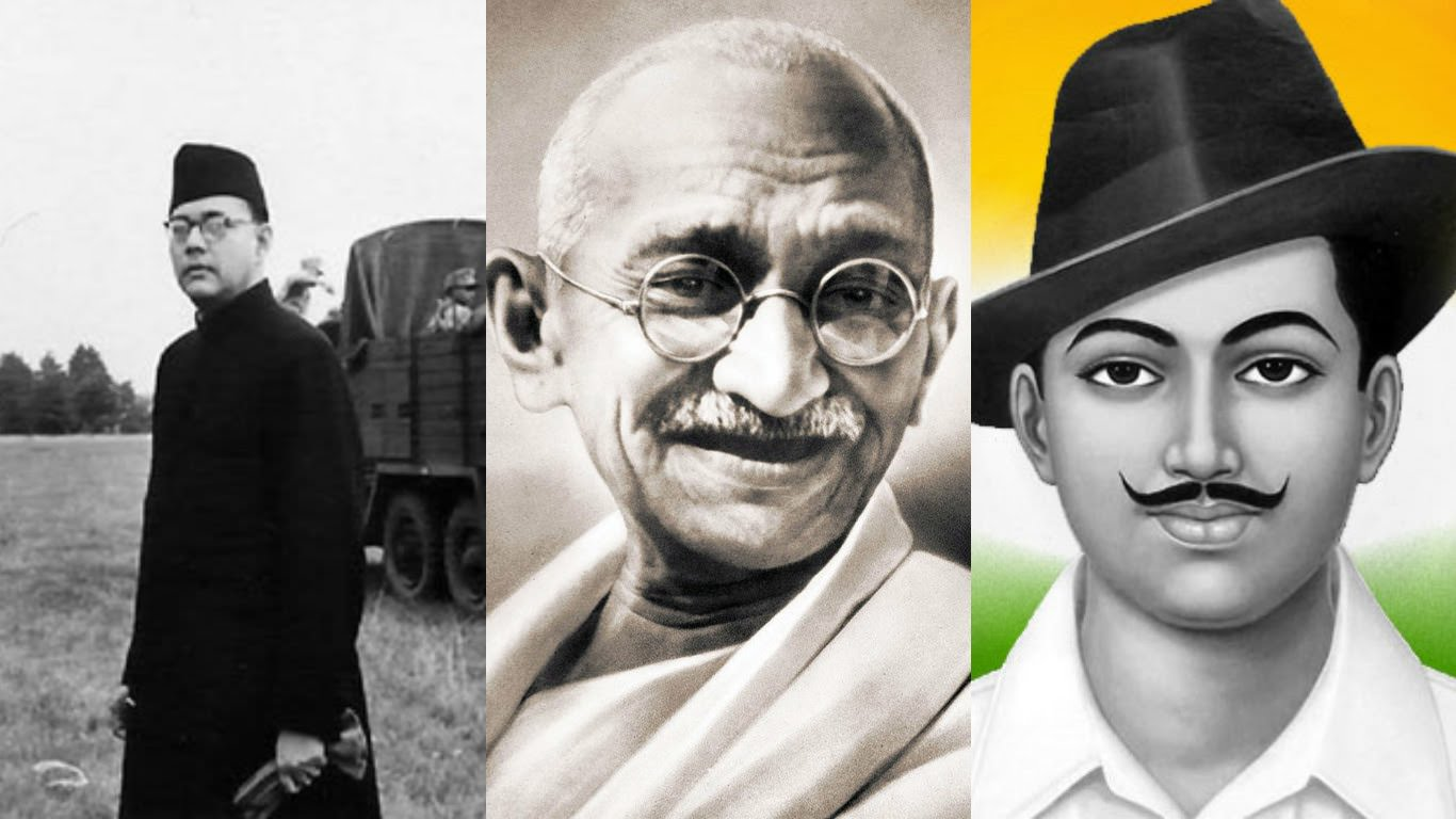 Freedom, Gandhi and Violence - Role in India's Freedom. Why Bose left out ?