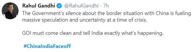 RahulGandhi, ChinaIndiaFaceoff