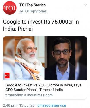 ModiHeyTohMumkinHey, GoogleForIndia, NarendraModi
