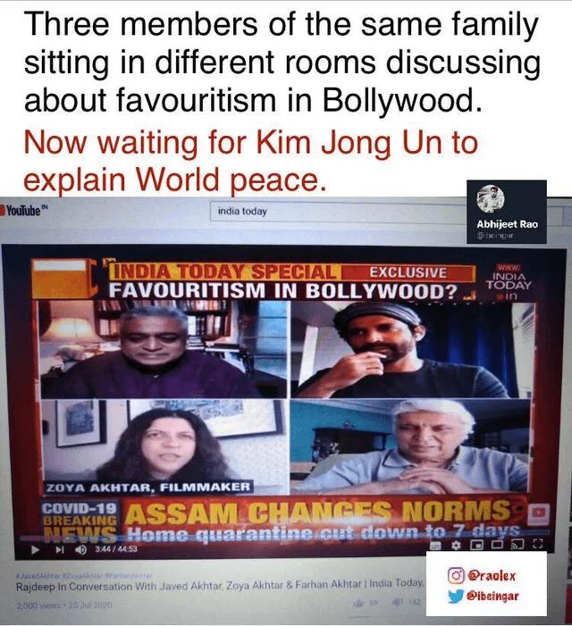 SSR, Bollywood, Hypocrisy, Nepotism
