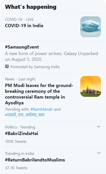 Twitter, JaiShriRam, rammandirinayodhya