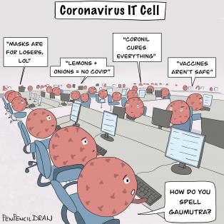 CoronaVillains, CoronaIdiots