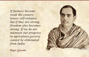 RajivGandhi, farmers
