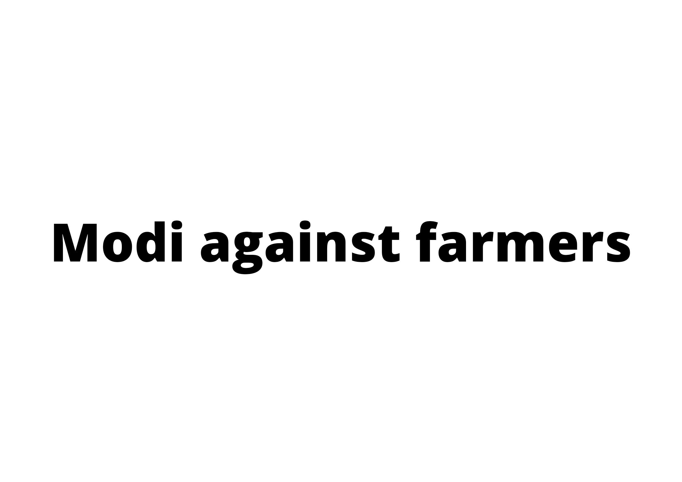 Modi, FarmersProtest, FarmLaw
