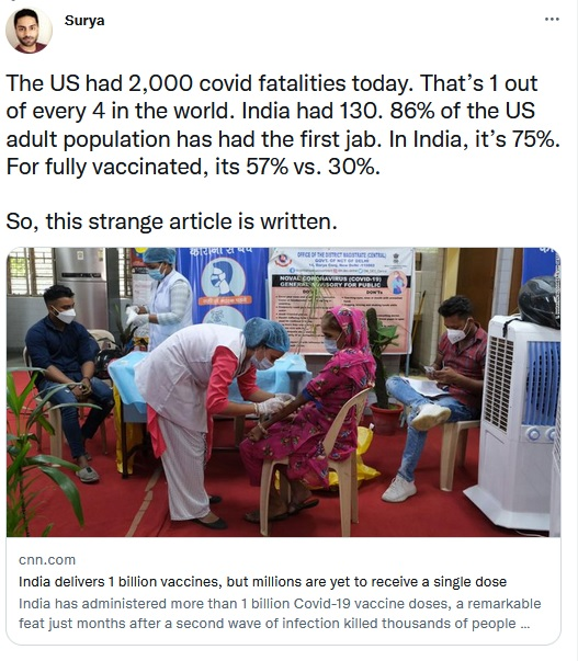 India, IndianVaccination, WesternMedia